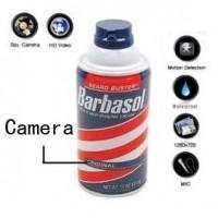 Motion Activated Shaving Cream Hidden Remote Control Bathroom Spy Camera DVR HD 1280*720 8GB