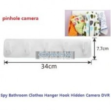 Multifunctional Bathroom Clothes Hanger Hook Hidden Camera 32GB (Remote Control And Motion Detection)