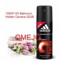 1080P Adidas Men Body Fragrance Spray Bottle Camera HD Bathroom Spy Camera 32GB