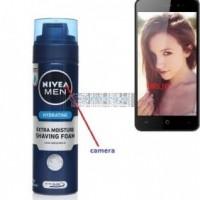 HD Shaving Foam container Bottle Camera Bathroom Spy Camera Wireless Spy Cell Phone DVR